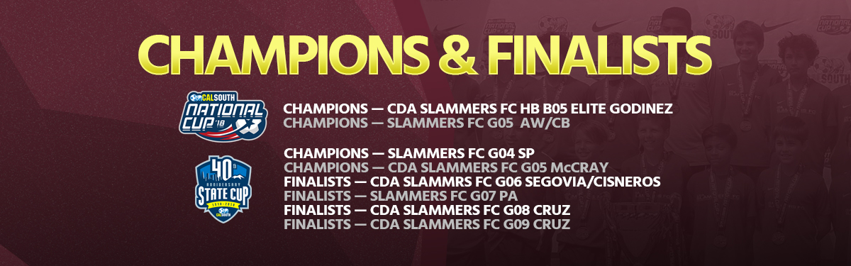 background image HERO 2018 national cup state cup champions finalists CDA slammers fc club soccer