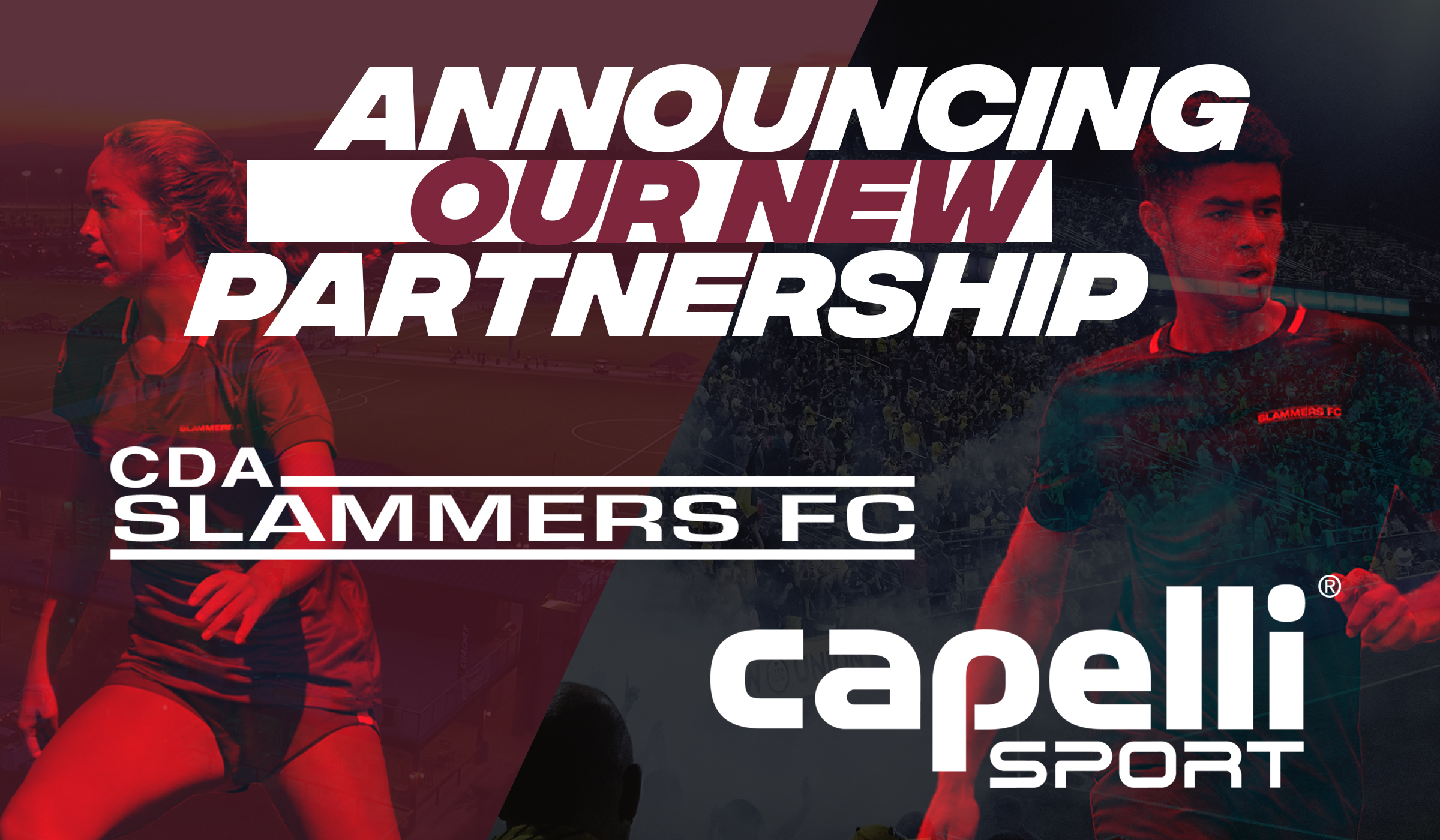 announcing our new partnership cda slammers fc and capelli sport